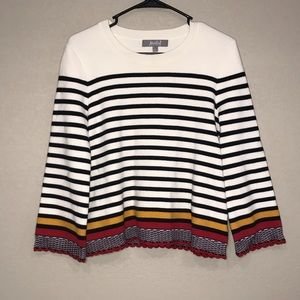 Marled Reunited Clothing  Striped Sweater Small